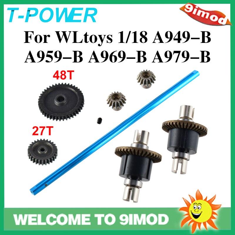 T-Power WLtoys A959 обновленные детали из алюминиевого металла для 1/18 электрического дистанционного управления RC автомобиль подходит для A949 A969 A979 ...