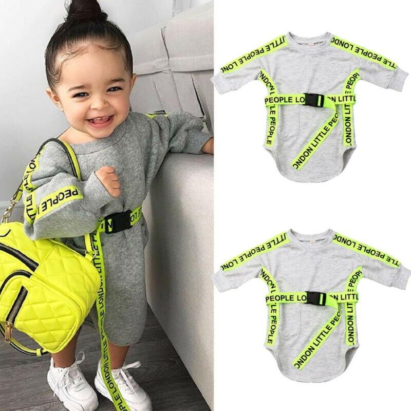 Autumn Baby Children Pullover Dress Long Sleeve Comfortable Gray Toddler Girl Dress Cute Princess Casual Dress