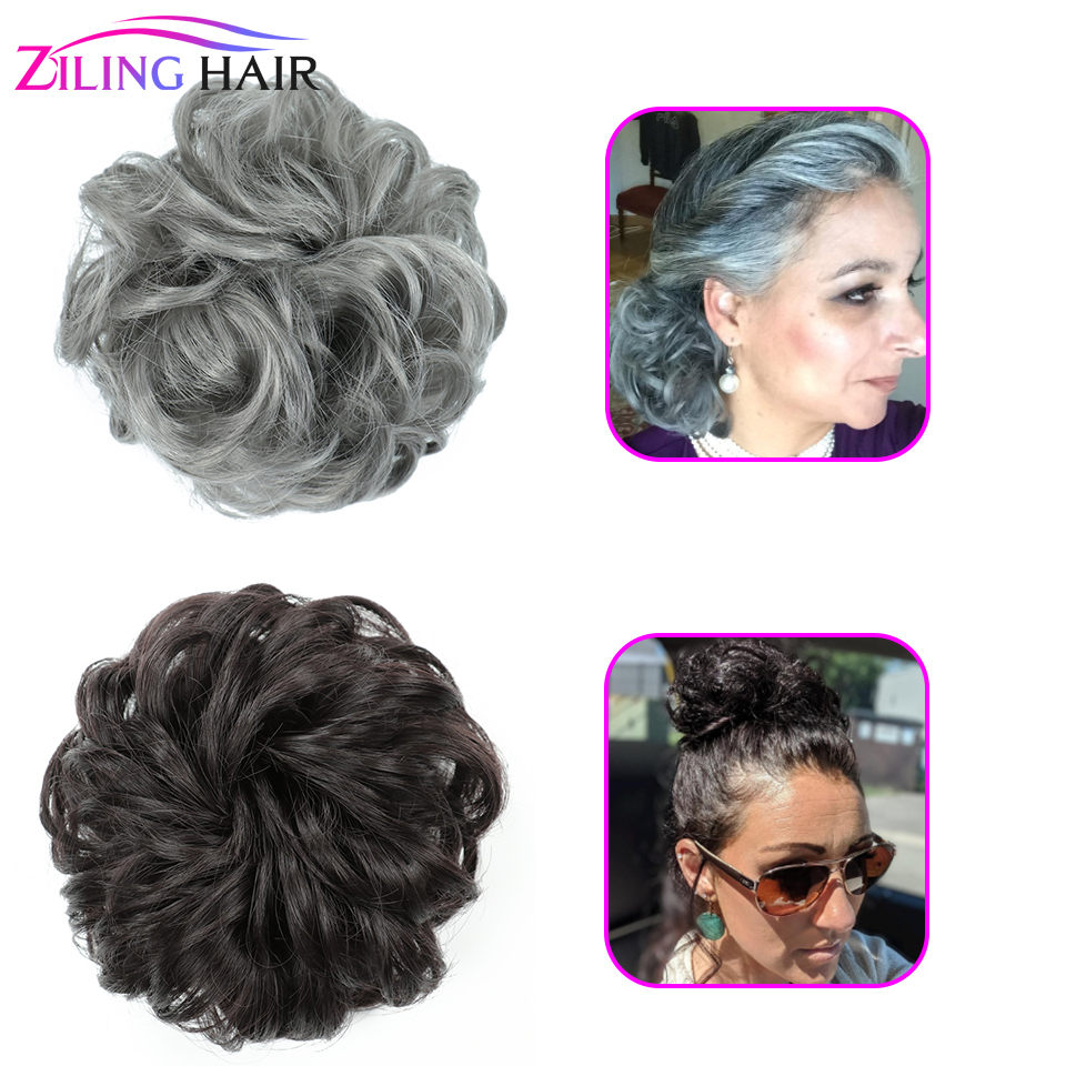 40g Full Synthetic Messy Hair Bun Women Accessories For Hair Scrunchie Elastics False Hairpieces Donut Chignon Ziling Hair