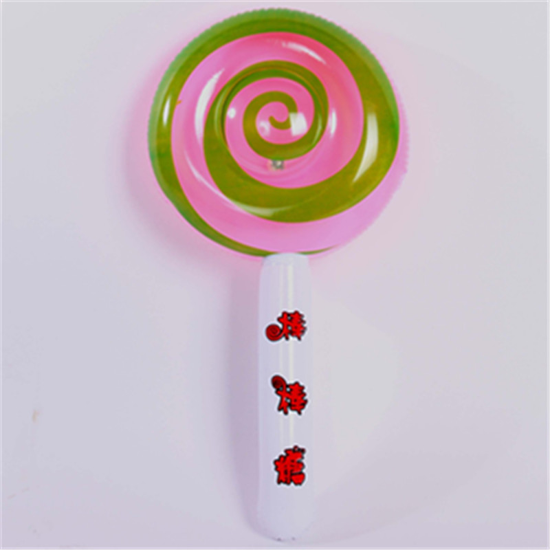 Inflatable Toy Balloons Inflatable Lollipop Balloon Stick Balloons Round Candy Toys Kid Children Birthday Party Decorations Gift