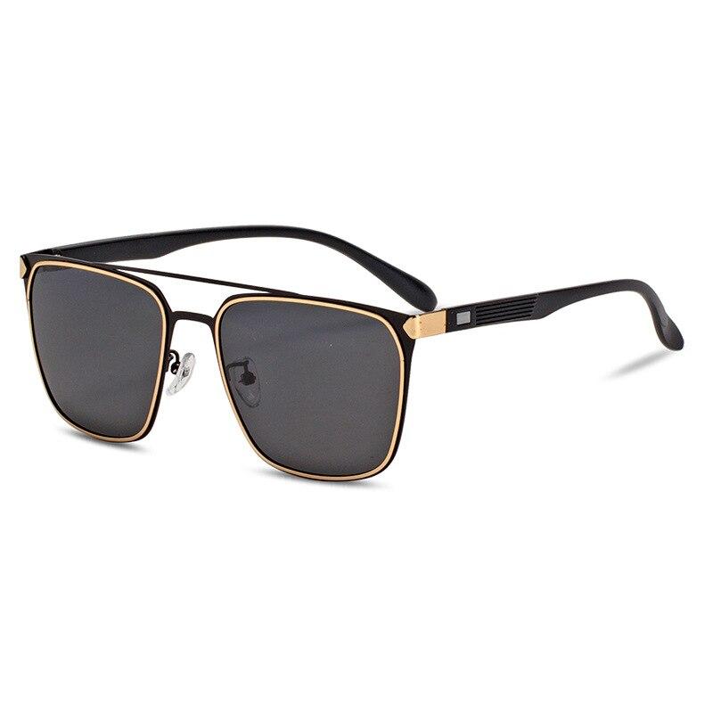 Поляризационные солнцезащитные очки для мужчин и женщин, фирменный дизайн, квадратные солнцезащитные очки для мужчин, Ретро стиль