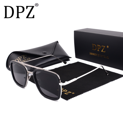 2019 DPZ Avengers Tony Stark Flight 006 Style Sunglasses Men Square Aviation Brand Design Sun Glasses Oculos De Sol UV400 Pakistan