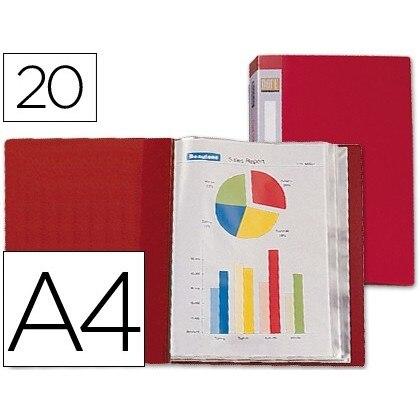 FOLDER LIDERPAPEL CUSTOMIZE 31710 20 CASES Polyprophylene DIN A4 RED LOMO CUSTOMIZABLE