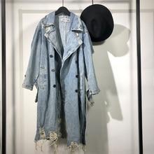 Owen seak Men Parker Denim Coats Jackets High Street Men's Clothing Trench Sprin