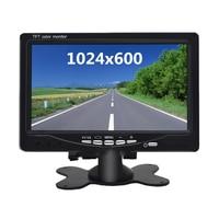 Universal 7 Inch HD bildschirm Auto Monitor 1024*600 Sicherheit Monitor Einparkhilfe für Auto Rückansicht kamera Draht verbinden
