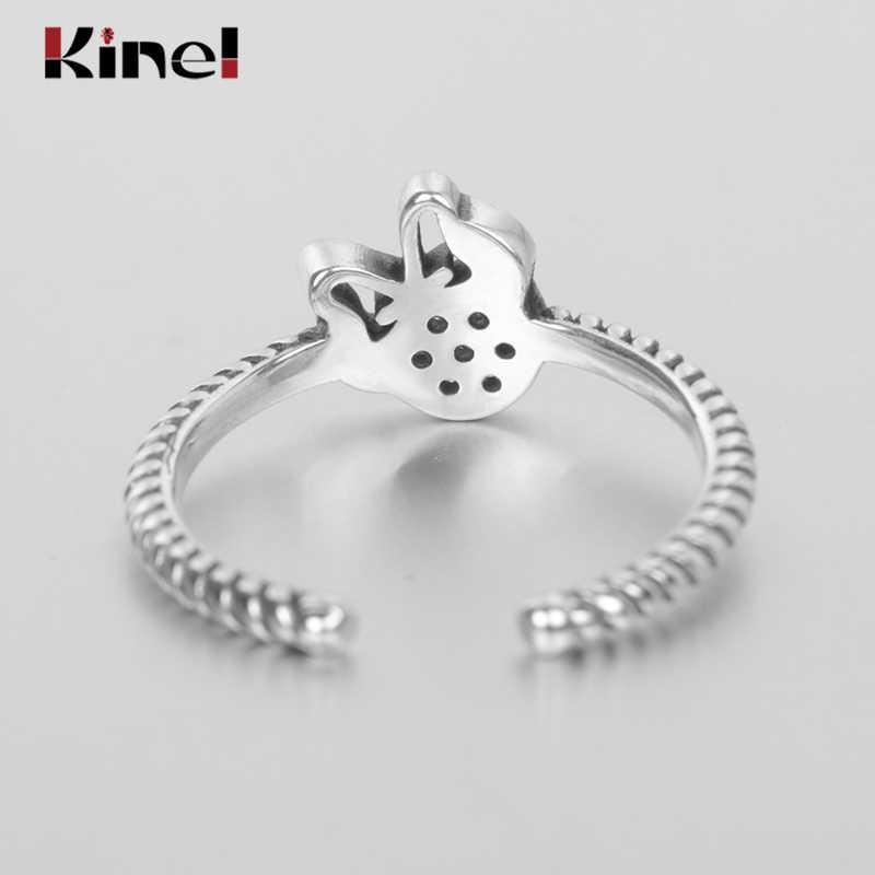 Kinel S925 แท้แท้ 92.5% minimalist micro-encrusted แหวนขายร้อน 925 เงินสเตอร์ลิง Zirconia คริสตัล