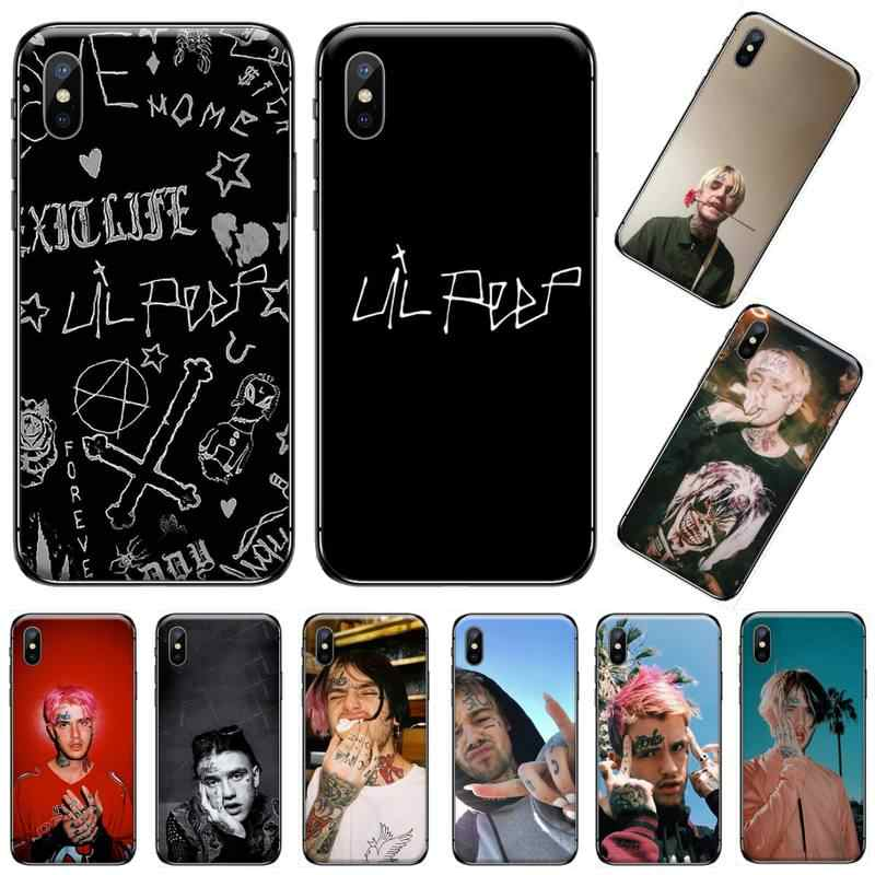 Lil Peep Amerika Serikat Singer Gustav Åhr Bling Lucu Phone Case untuk Iphone 5 5s 5c Se 6 6S 7 7 Plus X Xs xr 11 Pro Max Coque Shell