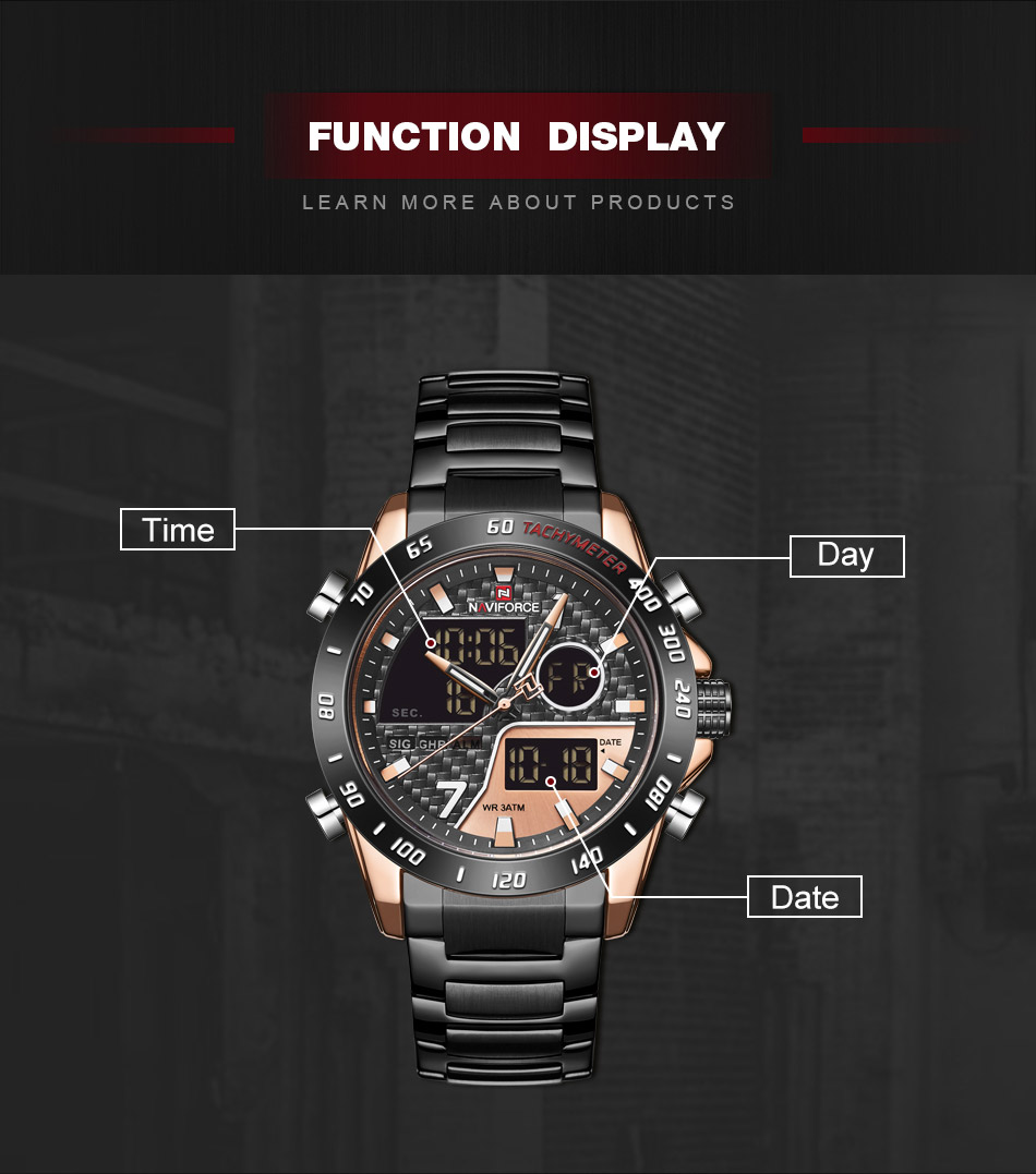 Naviforce NF 9171 Fashion Quartz Watch 6