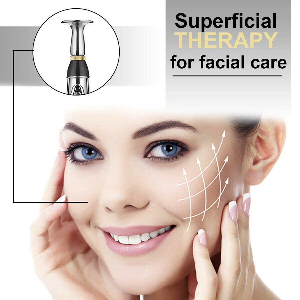 Superficial therapy for facial care by multi-functional pen