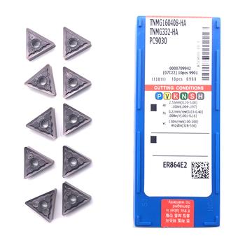 Wkładki 100 oryginalny TNMG160404 TNMG160408 HA PC9030 wysokiej jakości toczenie zewnętrzne narzędzie płytka węglikowa do stali nierdzewnej tanie i dobre opinie CDWAS CN (pochodzenie) Narzędzia tokarskie zewnętrzne Węglika wolframu