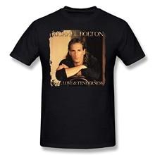 Высококачественная Мужская футболка с надписью «Michael Bolton Time Love and Tenderness»