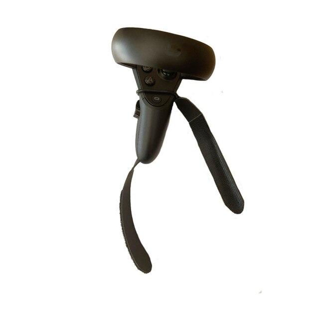 Nowy kontroler dotykowy VR paski Knuckle dla Oculus Quest skórka naklejka kontroler dotykowy uchwyt do kontrolera regulowany Knuckle akcesoria z paskami