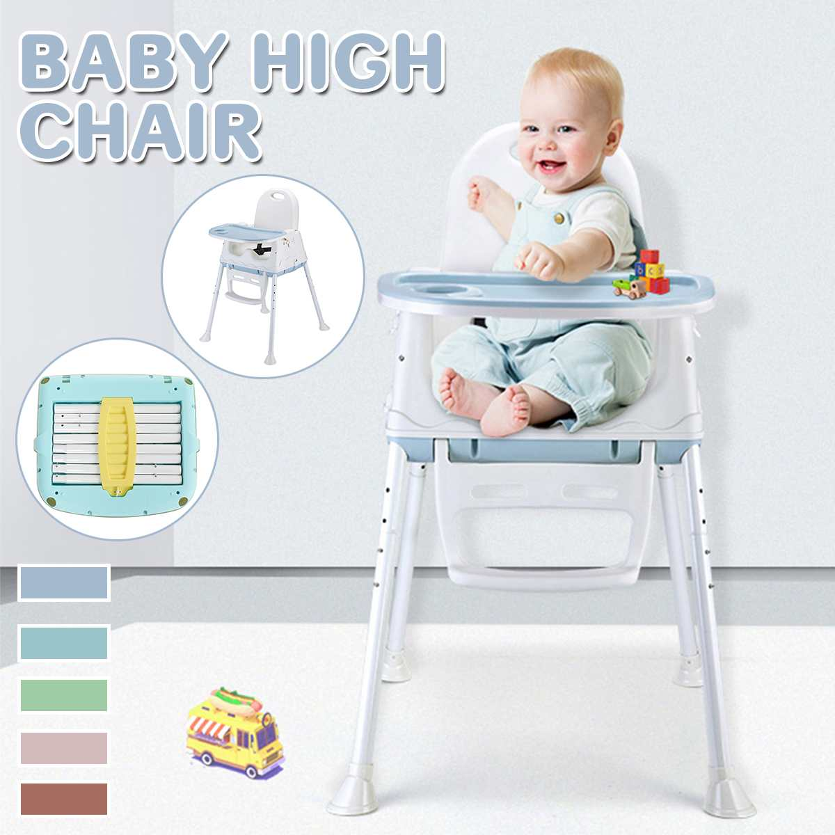 Babies Feed Chair Dining Lunch Chair Safety Baby High Chair For Feeding Folding Children Portable Baby High Chair