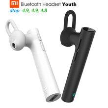 원래 샤오미 블루투스 헤드셋 청소년 버전 무선 이어폰 Handfree HD 전화 6.5g 3 크기 싹 3 버튼 마이크