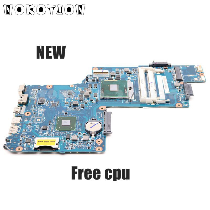 NOKOTION New H000052730 MAIN BOARD For Toshiba Satellite C850 C855 L850 L855 Laptop Motherboard HM70 DDR3 Free Cpu
