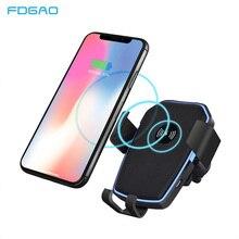 FDGAO автоматическое автомобильное крепление Qi Беспроводное зарядное устройство для iPhone 11 Pro XS Max XR X 8 10 Вт Быстрая зарядка держатель телефона для samsung S10 S9