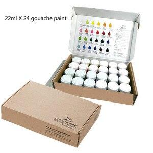 Набор гуаши краски/22mlX24 цветной набор гуашей/гуашь краска для живописи/товары для рукоделия для художника/искусство/товары для рукоделия