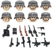 Mini Bricks Figures-Accessories Helmet-Guns Building-Blocks Soldier Ww2 Army Germany