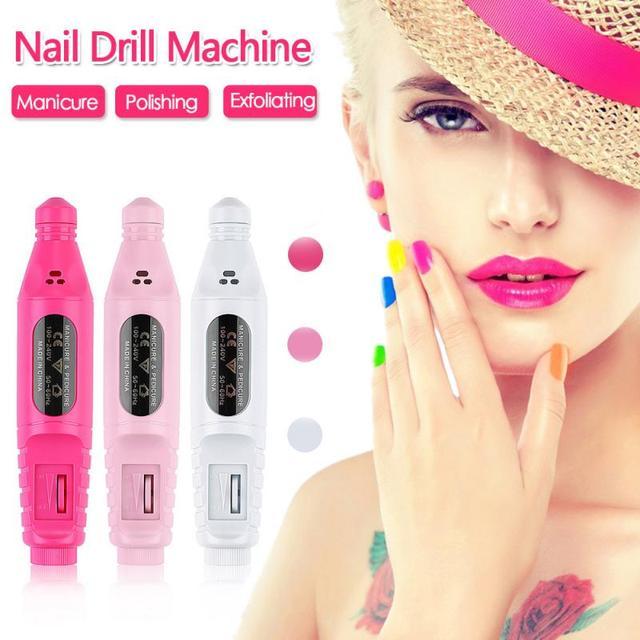 Nail Power Drill Set 6 bits Professional Electric Nail Files Drill Manicure Styling Tool Pedicure Machine Set Kit Nail Tools