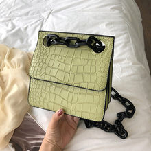 2019 New Korean Fashion Trend Stone Pattern Buckle Small Square Shoulder Crossbody Bag Ladies Crocodile Skin Designer Bags Sac#4(China)
