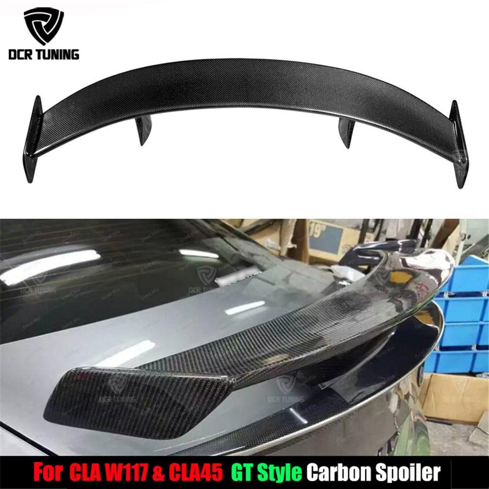 Задний спойлер для багажника Mercedes CLA CLASS W117 кла45 из углеродного волокна 2013 2014 2015 2016 UP GT Style, крышка крыла автомобиля