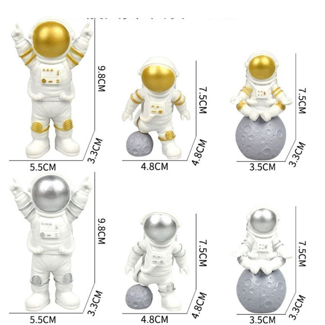 Astronaut Spaceman Creative Statue Car Decor Art Crafts Figurine Abstract Sculpture Home Office Desktop Decoration Ornament Gift 6