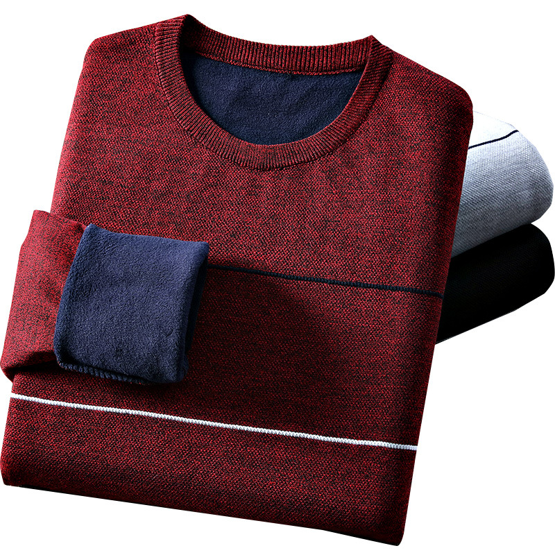 2020 Winter Spring Casual Men's Sweater O-Neck Striped Slim Fit Knittwear Mens Sweaters Pullovers M-3XL