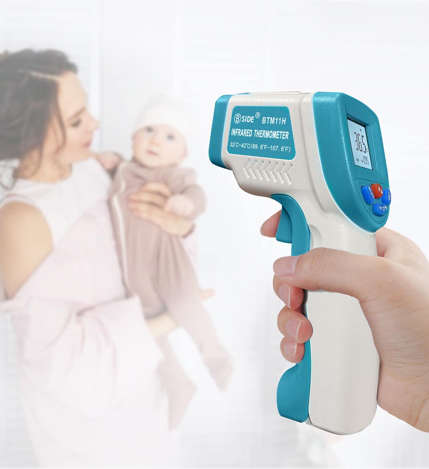 Digital Forehead Thermometer Gun Infrared Forehead Gun Body Non-contact Temperature Gun Measurement Device For Baby Adult