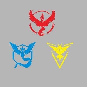 Image 5 - Flaming Bird Frozen Bird Pokemon Reflective Car Sticker Going Team Instinct Pokemon Pokemon Car Personality Fashion Sticker