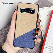 Luxury Cloth Case For Samsung A50 A60 A70 J4 Plus A7 2018 Shockproof Silicone Bumper Case For Samsung S7 S8 S9 S10 NOTE 9 Cover(China)