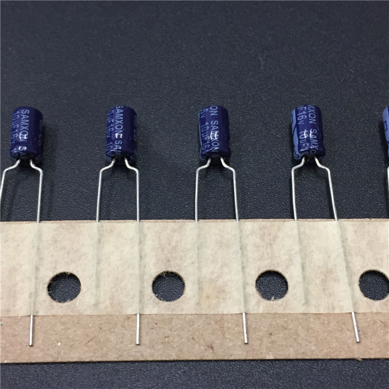 20pcs 10uF 16V SAMXON SS Series 4x7mm High Quality 16V10uF Aluminum Electrolytic Capacitor