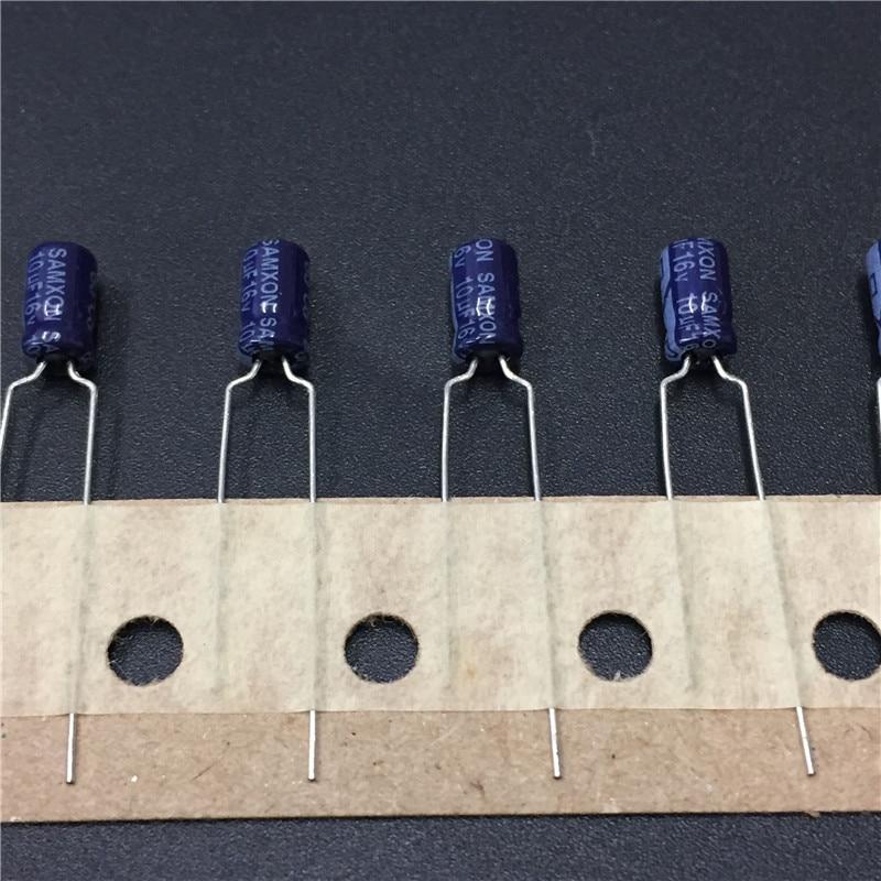 20pcs 10uF 16V SAMXON SS Series 4x7mm High Quality 16V10uF Aluminum Electrolytic Capacitor