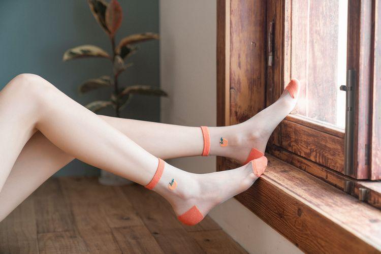 2020 New 1Pair Breathable Fruit Socks For Women Girl Female Summer Cute Love Transparent Comfortable Short Socks