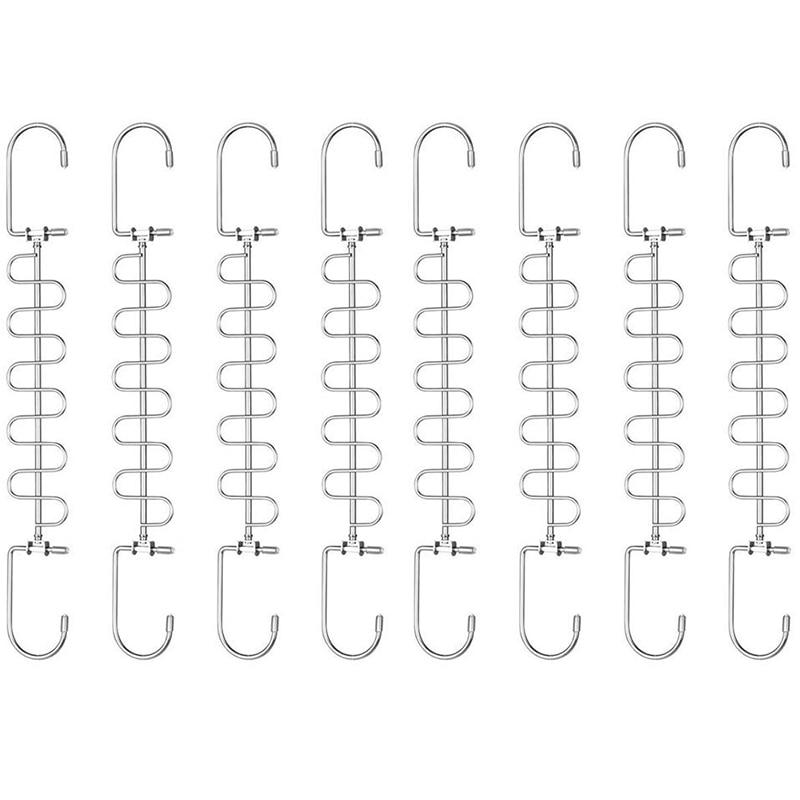 Wonder Magic Hangers Metal Space Saving Hangers 8 Pack,Closet Space Saving Wardrobe Clothing Hanger Organizer,Updated Design (8P