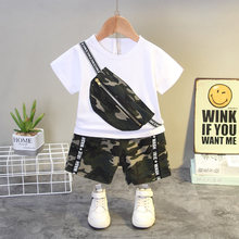 Children Cotton Baby Boy Girl Clothes Summer Camouflage Bag Sport T-shirt Shorts 2Pcs/sets Infant Outfit Kids Toddler Tracksuits