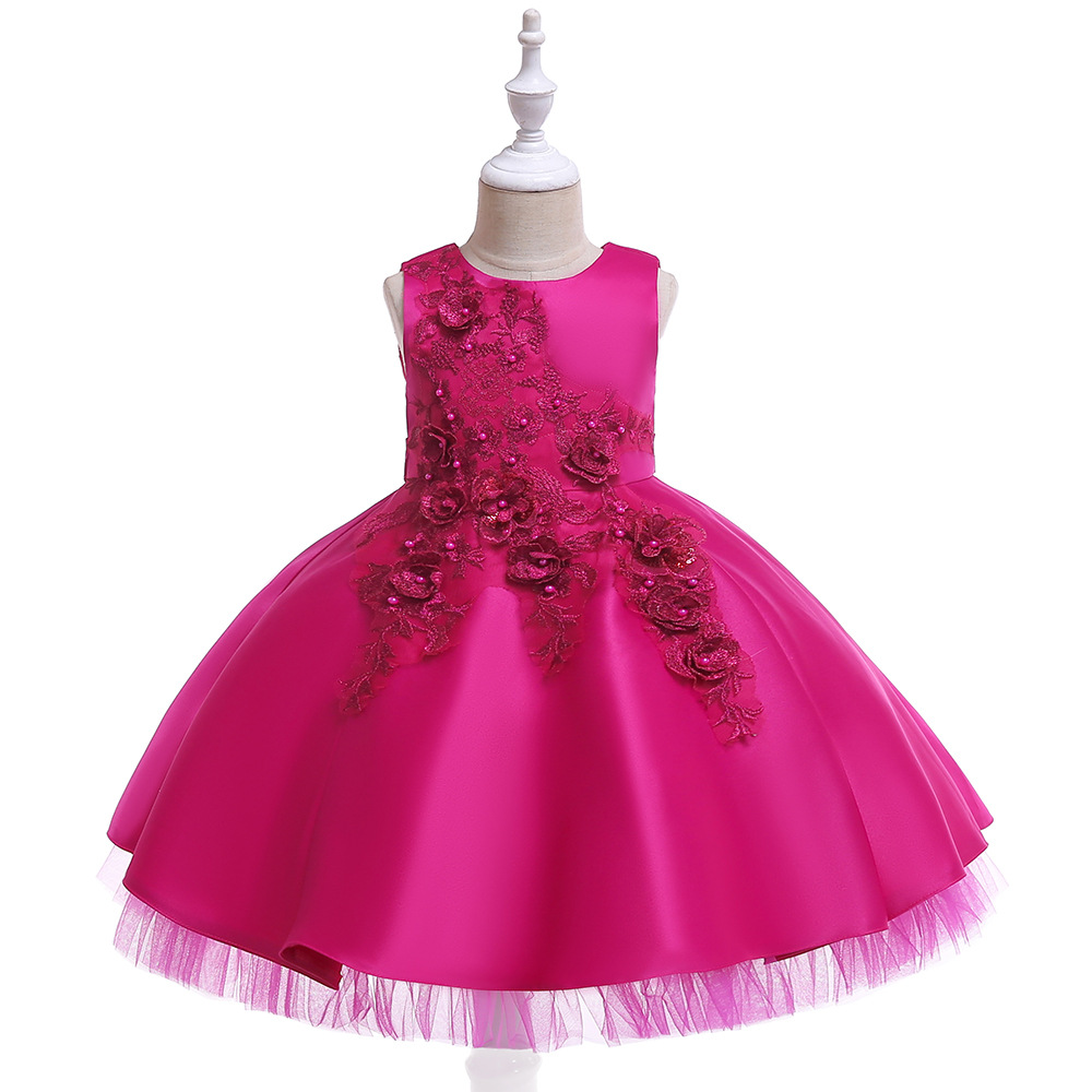 2019 Children Evening Gown Flower Boys/Flower Girls Piano Costume Small Host Birthday Catwalks Puffy Yarn Flower Princess Skirt