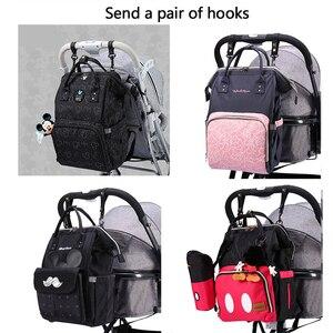 Image 2 - Disney USB Diaper Bag Backpack Mummy Maternity/Nappy Bag baby bag Baby Mickey Mouse Travel  Nursing Bag Baby Care Bag Wet bag
