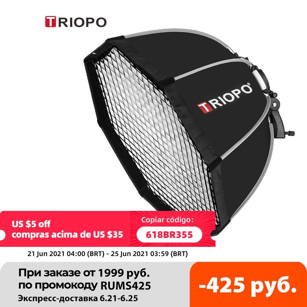 Triopo 55cm 65cm 90cm 120cm Speedlite Portable Octagon Umbrella Softbox + Honeycomb Grid Outdoor Flash Soft Box for Canon Godox