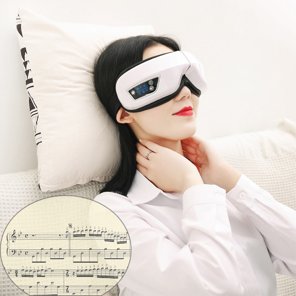 Electric Vibration Bluetooth Eye Massager Eye Care Device Wrinkle Fatigue Relieve Vibration Massage Hot Compress Therapy Glasses