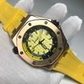 AAA Мужские часы Топ бренд класса люкс из натуральной резины автоматические механические мужские часы классические мужские часы Высокое кач...