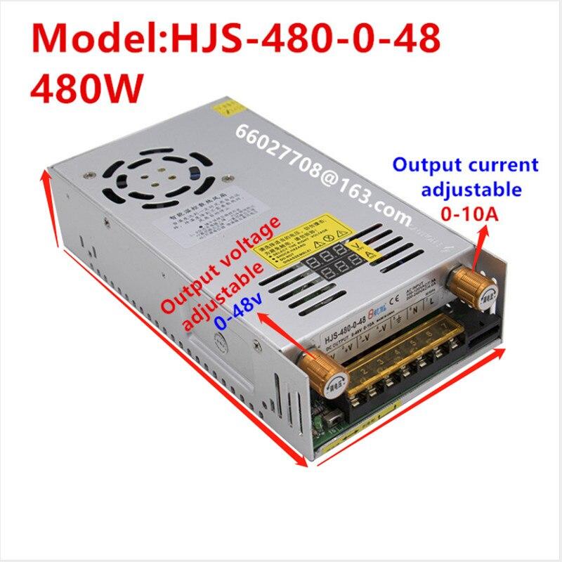 1 stücke HJS480-0-48 eingang AC 110V 220V Einstellbare DC spannung stabilisierung Digitale schaltnetzteil DOPPEL WELLE