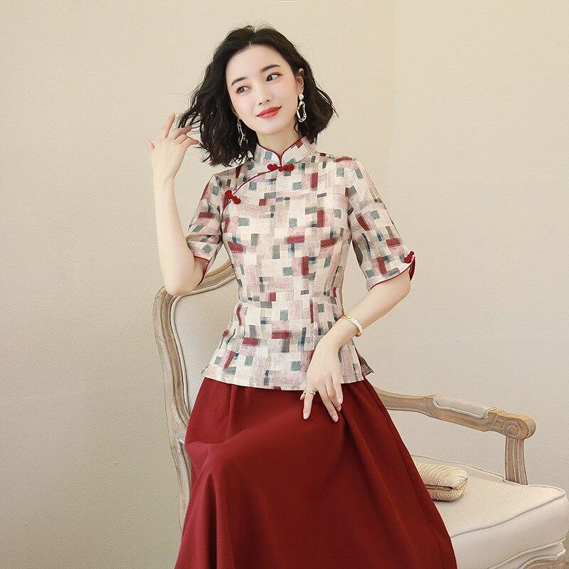 Vintage Oversize 3XL Women Cotton Linen Qipao Long Summer New Cheongsam Chinese Dress Casual Dress Chinese Style Vestidos