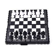1 комплект горячая распродажа складной магнитный пластик шахматы доска набор с штуками игры аксессуары