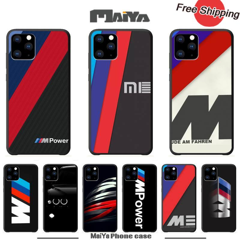 Maiya Hot Car BMW Logo Luxury Phone Case Coque For Iphone 5s Se 2020 6 6s 7 8 Plus X Xs Max Xr 11 Pro Max Silicone Cases Coque image