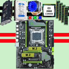 Computador DIY HUANAN X79 motherboard CPU Xeon E5 2660 6 heatpipes cooler RAM 32G (4*8G) RECC DDR3 1TB 3.5 'SATA HDD GTX750Ti 2GD5(China)
