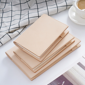 Image 5 - 100% Genuine Leather Notebook Planner Book Cover  A6 A5 B6 Slim For MD Diary Original Journal Drawing Sketchbook