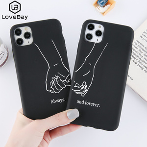 Lovebay Funny Couples Love Heart Phone Case For iPhone 11 Pro Max X XS XR Xs Max Soft TPU Simple Cover For iPhone 6 6s 7 8 Plus(China)