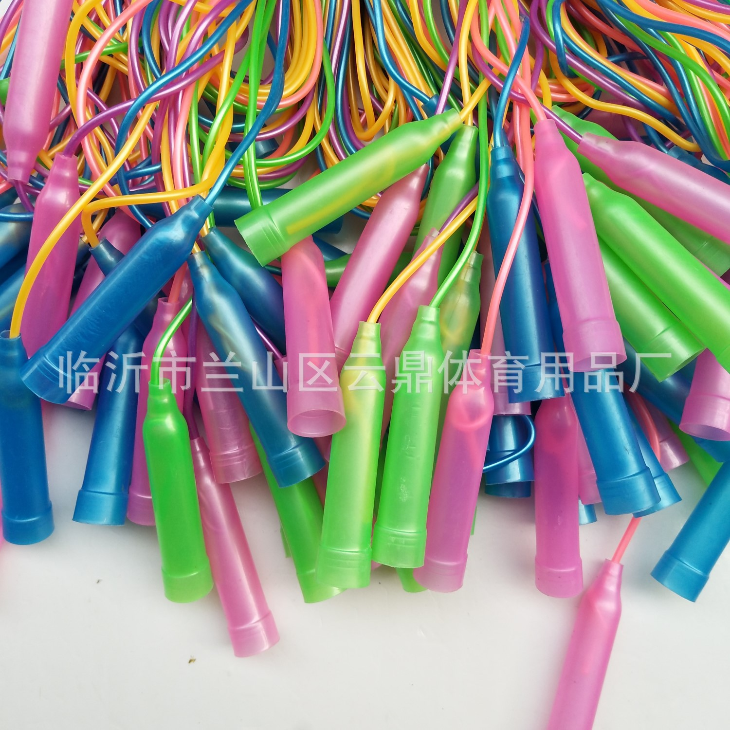 Children Jump Rope Kindergarten Only Jump Rope Plastic Skipping Rope Five-color Jump Rope PU Plastic Skipping Rope