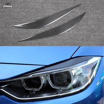 Carbon Fiber Headlights Eyebrows Eyelids Stickers For BMW F32 F33 F36 F82 M4 Front Headlamp Eyebrow 420i 428i 425i 430i 435i 440