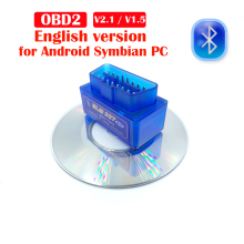 Obd2 bluetooth Code Reader ELM 327 V1.5 Bluetooth Car Diagnostic Tool V2.1 OBD2  For Android/Symbian OBDII